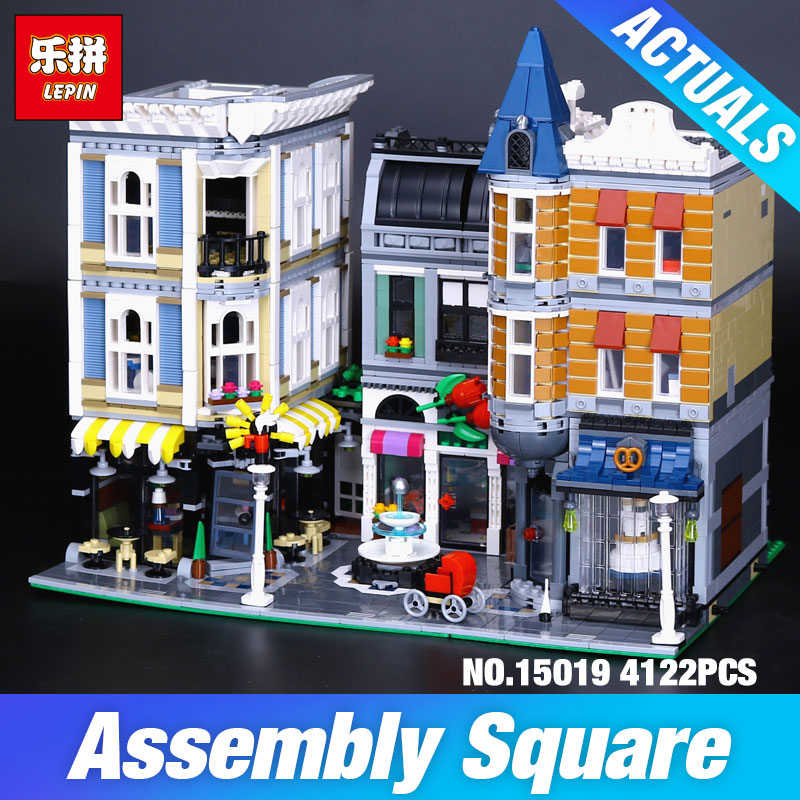 Lepin 15019 4002pcs MOC Creative Series The Assembly Square Set Building Blocks Bricks Toys Small piece block 10255 Educational new lepin moc creative series the assembly square set building blocks bricks boy toys compatible educational figures model gifts