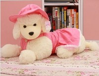 Free Shipping Dog Plush Toy MINIATURE POODLE Plush Toy Christmas Gift 40cm