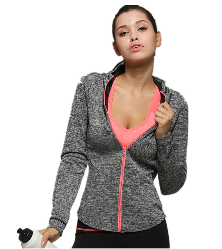 439cb8dff52 LANBAOSI Women s Full Zip Hoodies Workout Active Wear Thin   Lightweight  Jacket For Fitness