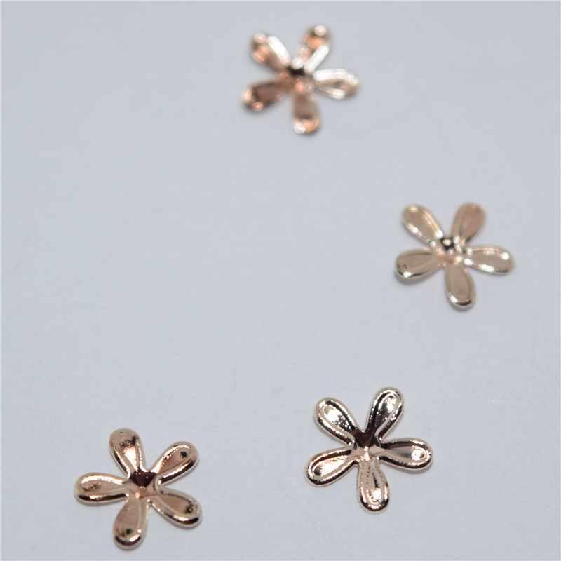 10psc New Rose gold hoa 3D Nail Art Decorations, Hợp Kim Quyến Rũ Móng Tay, Móng Tay Thạch Nail Nguồn Cung Cấp #432