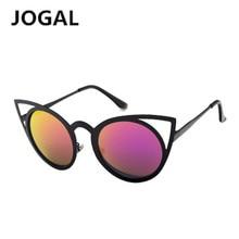 JOGAL Eyewears Women Cat eye Sunglasses Brand Designer New Fashion Gradient Rimless  Vintage  Metal Frame Retro Sunglasses Women