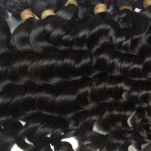 """Mayflower 10 пучки натуральных волос, не подвергавшихся химическому воздействию Малазийская естественная волна полный выравнивание кутикулы натуральный цвет может быть красителем от 12'-2"""""""