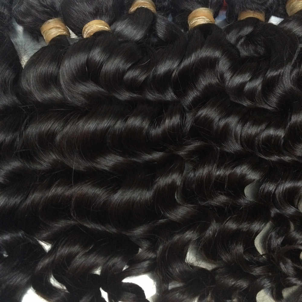 "Mayflower 10 paquetes de cabello virgen malayo onda natural cutícula completa alineada color natural se puede teñir de 12 a 26 ""en stock"