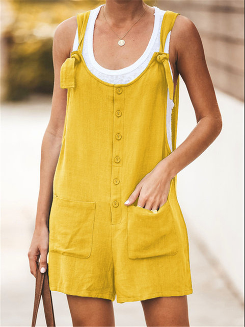 Women Rompers Solid Jumpsuit Summer Short  Jumpsuit Female Wrapped Strapless Playsuit 31