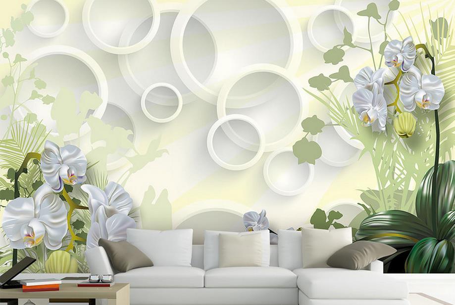 d mural papel pintado de lujo flores clivia saln wallpaper para paredes d foto mural de la pared papel tapiz