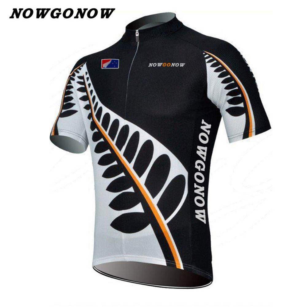 1d07a3cff custom men 2018 cycling jersey white black pro team flag clothing bike wear  NOWGONOW racing road mountain short sleeve