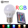 led colorful globe bulbs 3W E27 RGB bulbs globe 24keys controller 16 different colors rgb spots AC86-265V