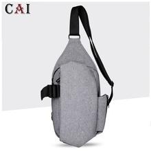 2019 New Brand Men Oxford Chest Pack Single Shoulder Strap Travel Back Bag Crossbody Bags Sling Business