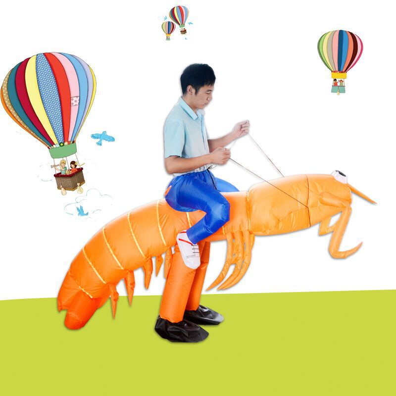 Funny Ride Inflatable Costumes Halloween Pipi Shrimp Let 39 s Go 2019 Newest Anime Cosplay Costume For Adults Women Men