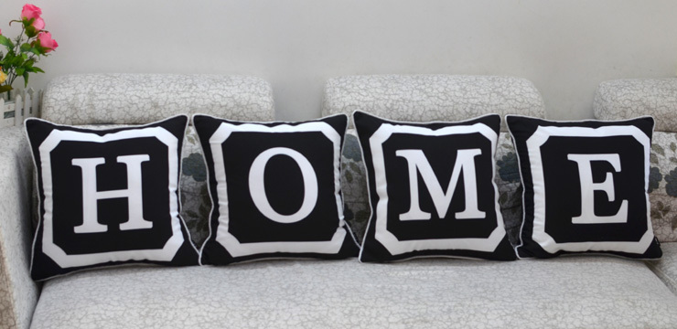 45*45 cm Home Decorative Monogrammed Personalized 26 Initial Upper Case Letter Throw Pillow Case Pillowcase
