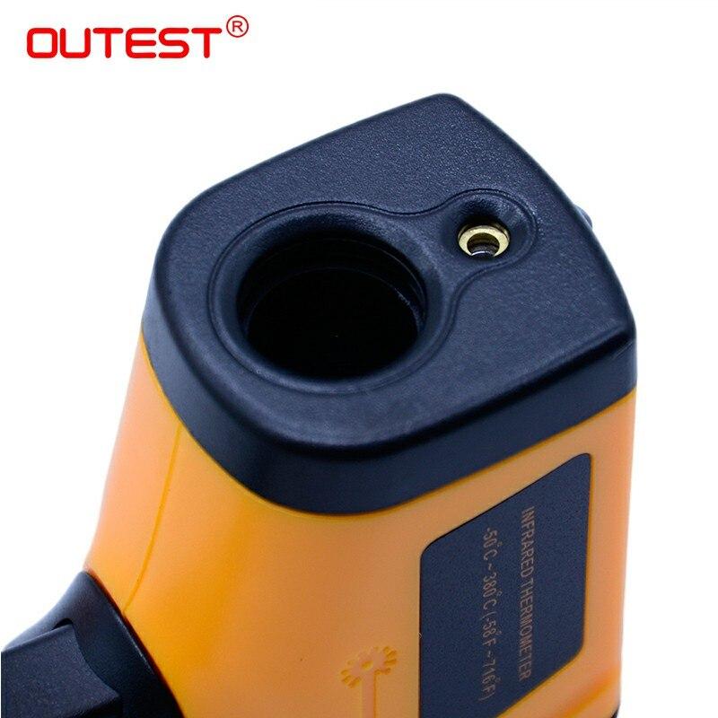 Image 4 - Цифровой инфракрасный термометр с темами пирометр IR лазерный  точечный Пистолет Бесконтактный 330 градусов GM320thermometer  kitchenthermometerthermometer ear -