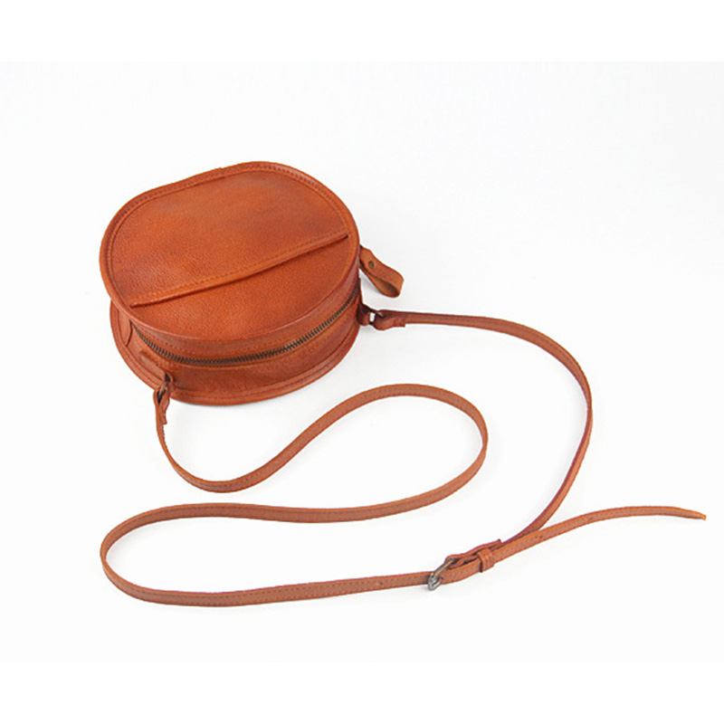 YeeSupSei mode femmes Mini sac rond en cuir véritable circulaire bandoulière sac à bandoulière Messenger dame décontracté couleur unie Bolsa