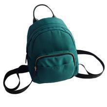 Женщины рюкзак нейлон мини опрятный стиль многофункциональный твердый мешок плеча школьные сумки bookbag мода Портативный рюкзаки bts