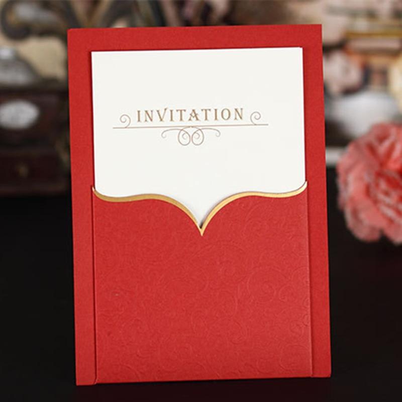 Aliexpress.com : Buy 50Pcs Wedding Invitation Cards for wedding ...