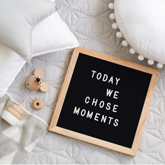 Felt Oak Frame Letter Board 10Inch With Interchangeable Letters Message Board Sign Nordic Style Children Gift Wedding Decoration
