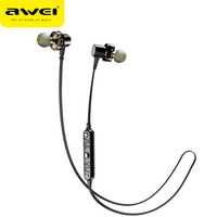 AWEI X660BL Bluetooth Headphones Earphone Dual Driver Wireless Headset with Mic Bass Stereo Earbuds for iPhone Xiaomi Samsung