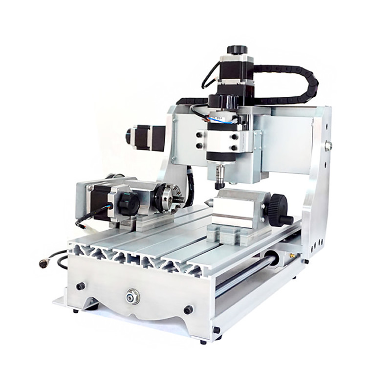 4 Axis CNC Router 3020 T-D300 Mini CNC Milling Machine with White Control Box Engrave Machine cnc router wood milling machine cnc 3040z vfd800w 3axis usb for wood working with ball screw