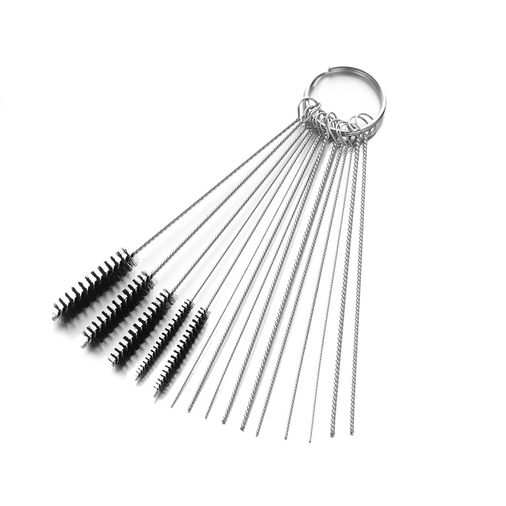 15/5Pcs Carburetor Carbon Dirt Jet Remove Cleaning Needles+Brushes Tools Cleaning Tools For Automobile And Motorcycle Tubing