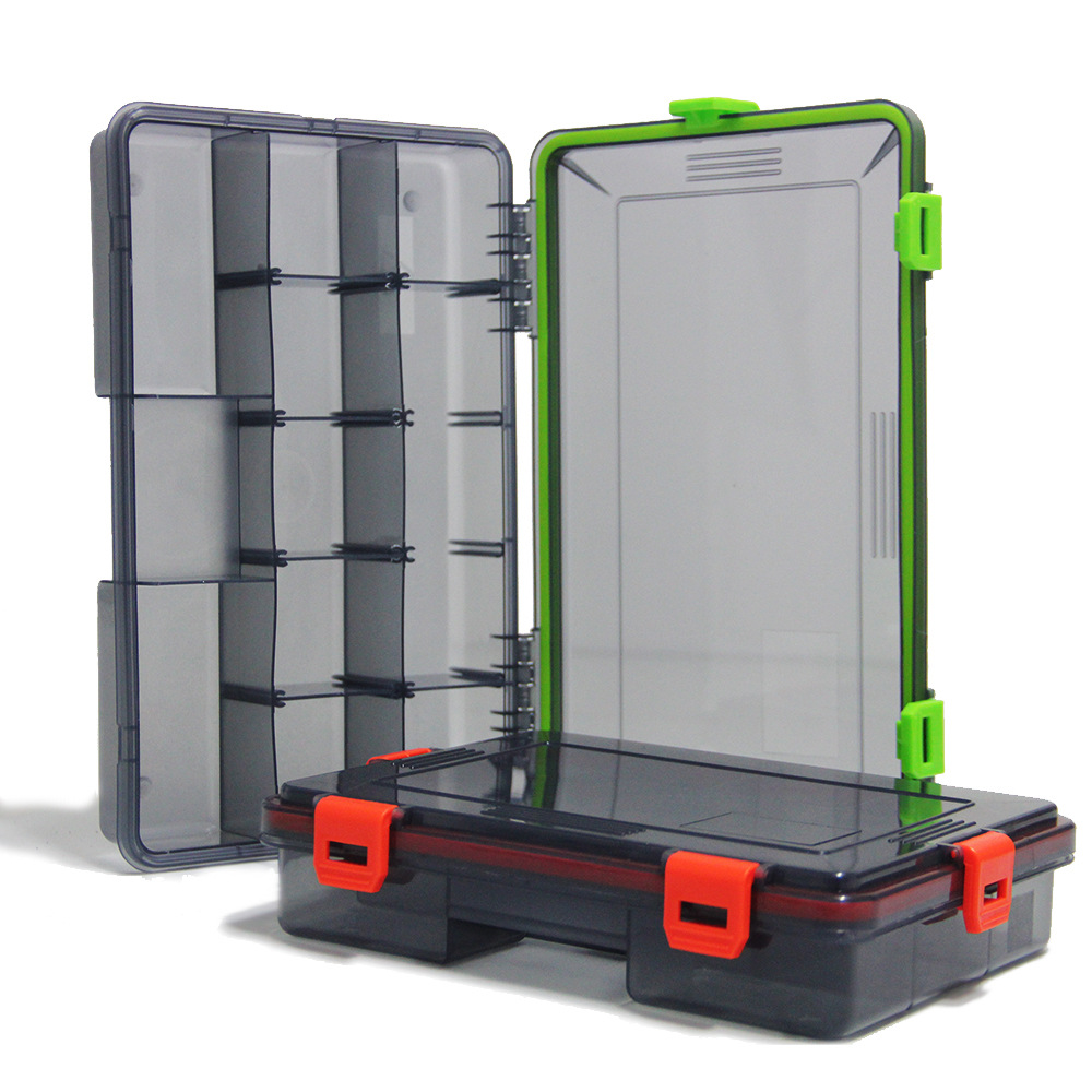 iLure Fishing Tackle Boxes 2 Colors Fishing Accessories Case Fish Lure Bait Hooks Plastic Carb Rock Fly Fishing Storage <font><b>Box</b></font> Case