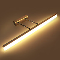 High quality LED wall lights waterproof anti fog LED lights bathroom mirror headlights telescopic adjustable angle lights