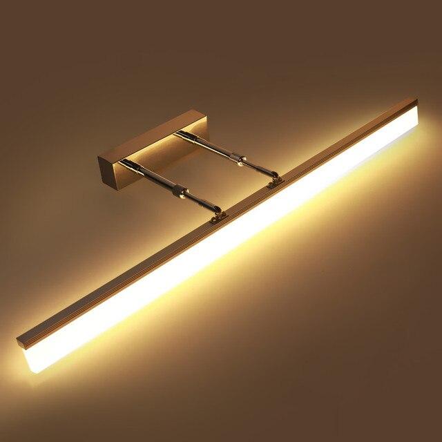 hoogwaardige led wandlampen waterdicht anti fog led verlichting badkamer spiegel koplampen telescopische verstelbare hoek lichten