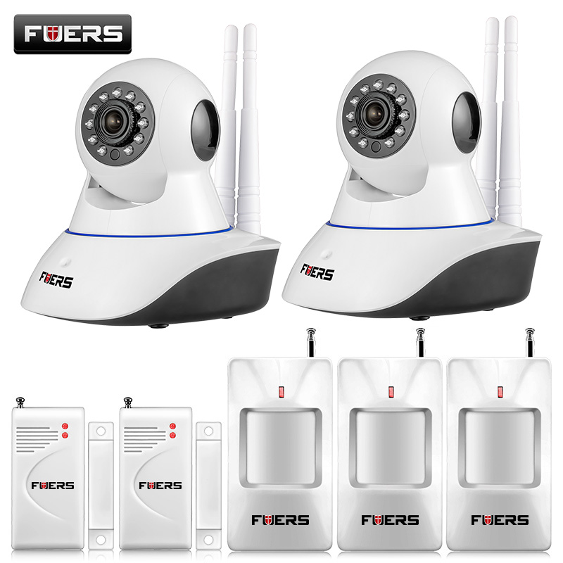 720P HD WiFi IP Camera HD 1MP CCTV IP CMOS security camera Alarm system For wifi and GSM sms alarm system Android APP control wireless wifi ir cut ip camera hd 1mp cmos security cctv ip camera alarm pt for wifi and gsm camera video surveillance