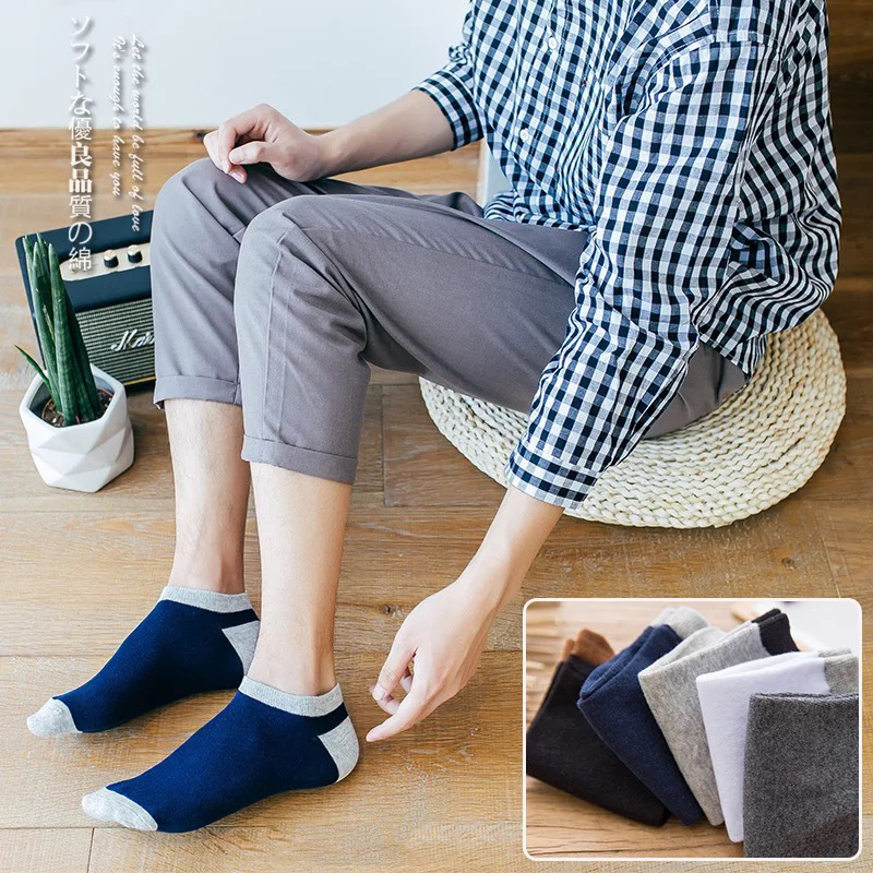 5 pairs batches of Unisex adult leisure stripes 100 cotton soft breathable sweating and deodorizing socks are popular all ov in Socks from Underwear Sleepwears