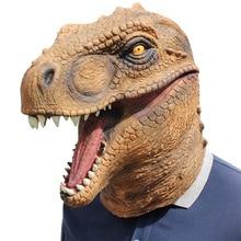 1PC Costume Emulsion Dinosaur Halloween Fancy Headgear Head Cover for Gift Decoration Women Men