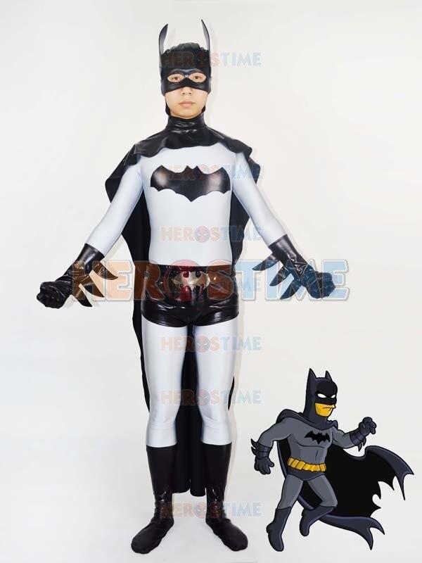 (SUP948)Classic Grey Black Batman Lycra Spandex Superhero Costum Cosplay Zentai Halloween Party Costume