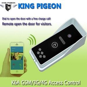 Image 2 - 3G GSM erişim kontrol kiti daire interkom güvenlik sistemi bir anahtar arama kapı kontrol uzaktan ücretsiz çağrı k6S