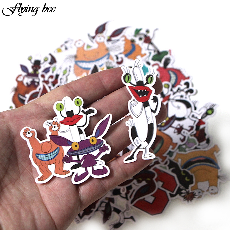 Image 5 - Flyingbee 42 Pcs Aaahh Real Monsters funny Sticker Decals Scrapbooking Stickers for DIY Luggage Laptop phone Car Stickers X0017-in Stickers from Consumer Electronics