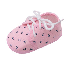 Newborn Baby Girls Shoes Letter Footprint Plaid Anti-Slip Footwear Crib Shoes Kids Baby Girls Infant Newborn Prewalker Shoes