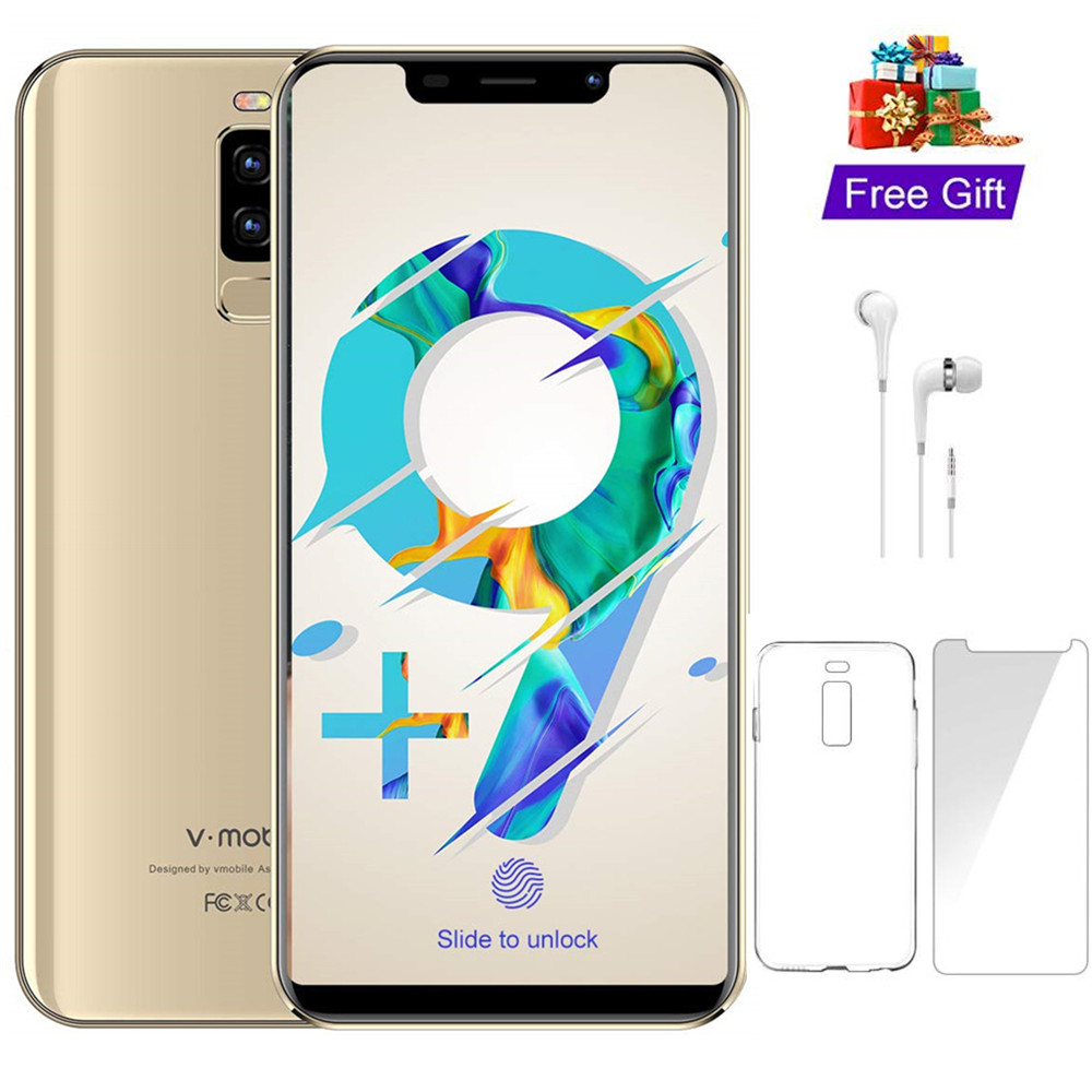 4G LTE TEENO VMobile S9 Telefone Móvel Android 8.1 5.84