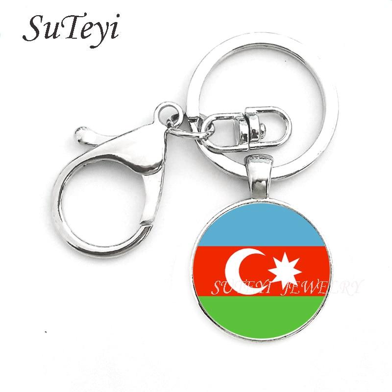 Image 3 - Fashion Oman Sultanate Flag Pendant keychain Azerbaijan and  Pakistan Jewelry Allah gift Key ring Gift for Men World flag  loversfashion keychainkeychain fashionkeychain a