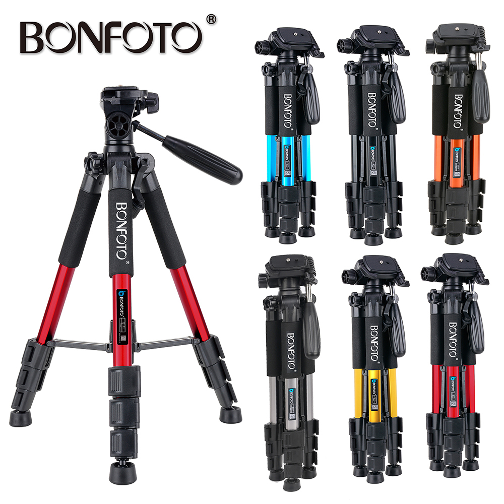 """55"""" Profession Travel Camera Portable Folding SLR Camera Tripod For Projector Smartphones Tablet Live Broadcast Stand with Case-in Live Tripods from Consumer Electronics    1"""