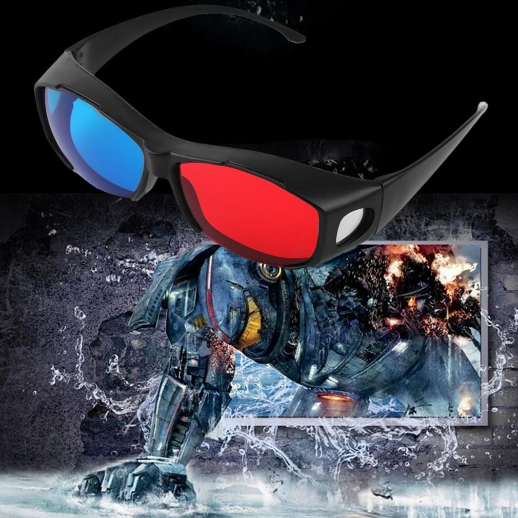 200pcs Universal Type 3D Glasses TV Movie Dimensional Anaglyph Video Frame 3D Vision Glasses DVD Game Glass Red And Blue Color
