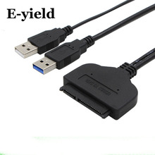 USB2.0 USB3.0 to SATA High Speed Adapter Cable 22 pin For 2.5 inch HDD/SSD Hard Disk Laptop With Extra Power