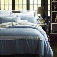 Высококлассное европейско американское кружево с коротким тенселем чистый цвет сатин жаккард 4 1,8 м постельное белье бутон пододеяльник