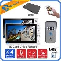 9 Inch LCD Monitor 700TVL IR Camera Wireless WiFi IP Video Doorphone Intercom System Video Recording