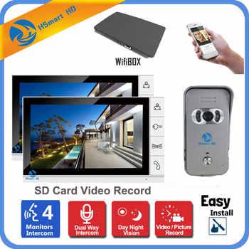 Wireless WiFi IP Video Door Phone Video Recording Intercom System 9
