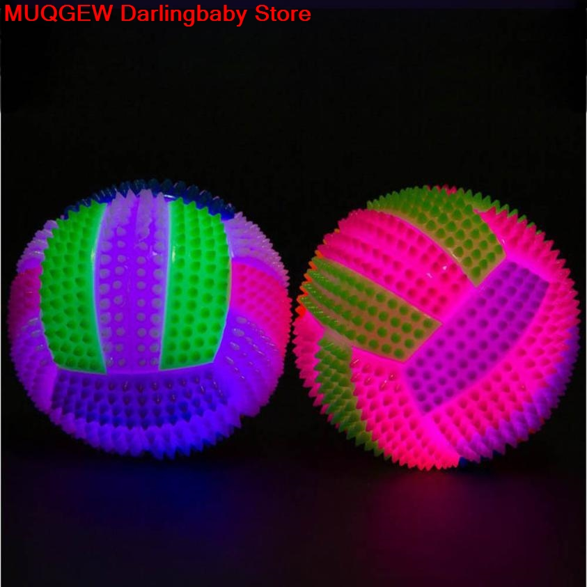 LED Volleyball Flashing Light Up Color Changing Bouncing Ball Kids Pet Dog Toy
