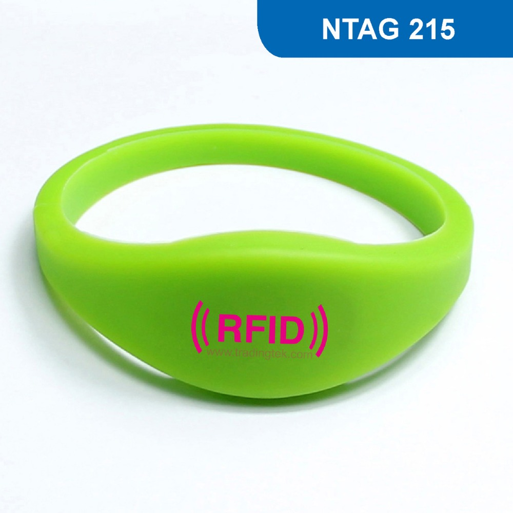 WB03 RFID Wristband for Access Control NFC Bracelet Mobile phone card Tag ISO 14443A,13.56MHz 504BYTES R/W with NTAG 215 Chip