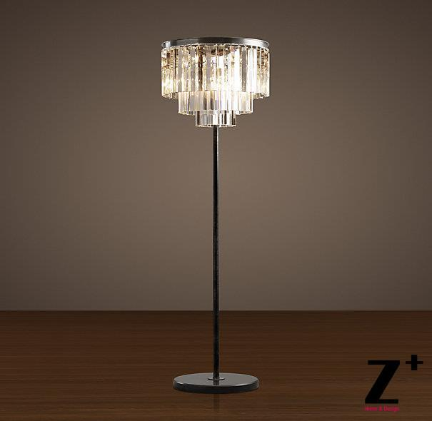 Replica Item Industrial Lamp 1920S ODEON CLEAR GLASS FRINGE FLOOR LAMP K9  Lustre CRYSTAL Free Shipping