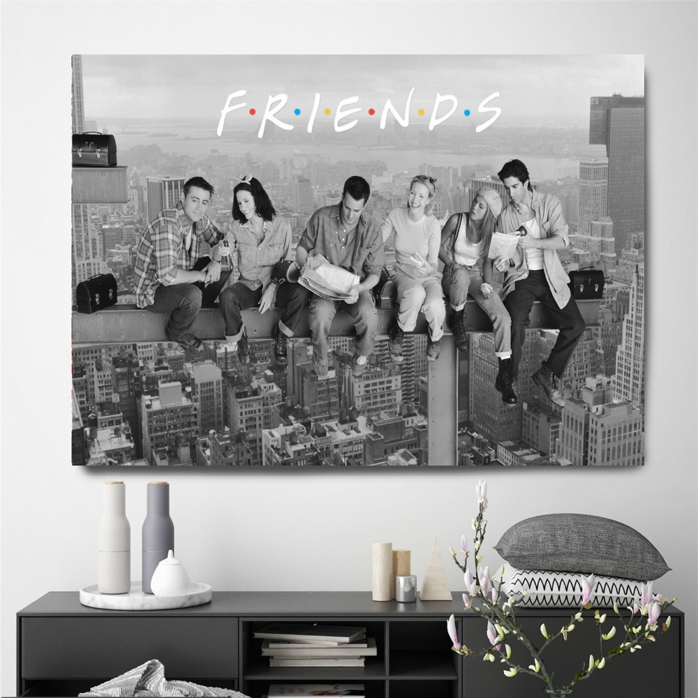 HTB15H8ZXinrK1Rjy1Xcq6yeDVXa0 Friends TV Show Classic Quote Posters and Prints Wall art Decorative Picture Canvas Painting For Living Room Home Decor Unframed