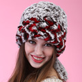 autumn winter Super warm winter women genuine rex rabbit fur hat love muffs Rex Rabbit cap lady luxury fur hat High quality