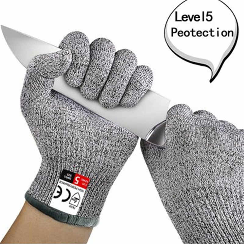 3 Sizes Cut Resistant Gloves Food Grade Level 5 Protection Safety Kitchen  Cuts Gloves for Oyster Shucking Fish Fillet Processing