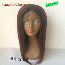 Brazilian Virgin Hair Silk Top Full Lace Wig With Natural Hairline Silk Straight Brazilian 4*4 Silk Top Lace Front Wig For all