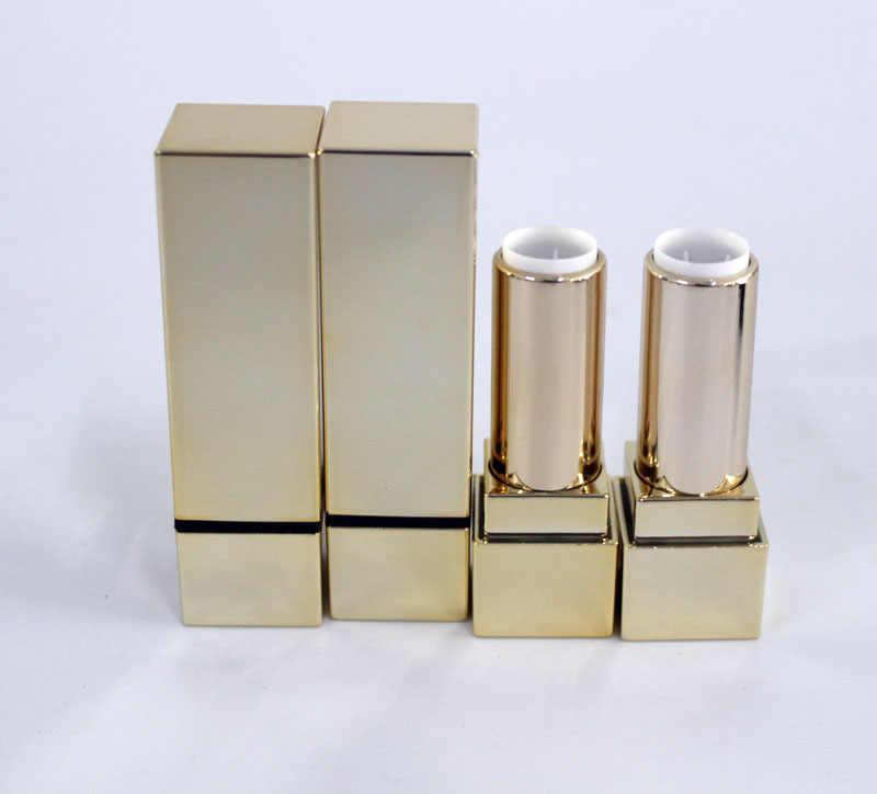 Nhựa rỗng vàng son môi ống 12.1mm, quảng trường vàng lip rouge trường hợp