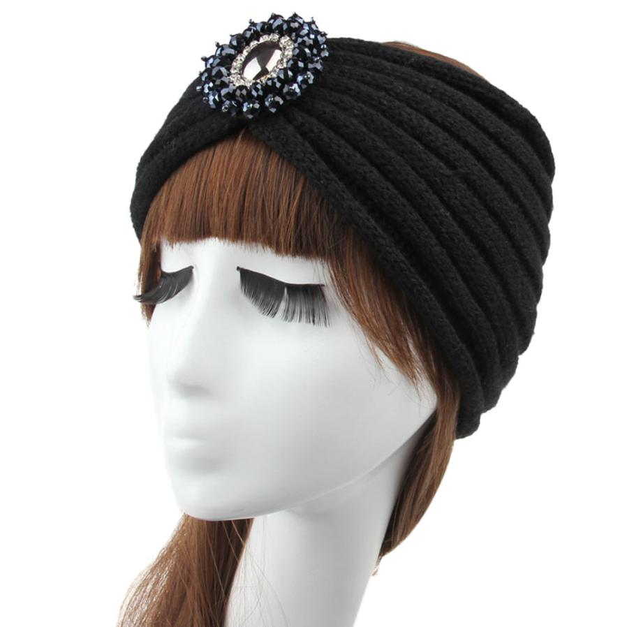 DHL/EMS Free shipping women new knitted sequins flower headband ...