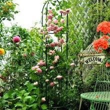 Зеленая металлическая подставка для цветов скалолазание рама Кронштейн Арка перголы Роза Арбор украшения сада цилиндрической формы высота 190 см